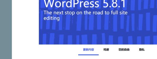全站更新Wordpress5.8.1,手动升级,差点挂了