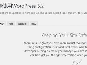 WordPress更新到5.2,新增了站点安全检查功能