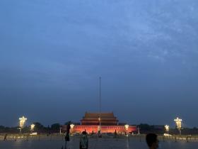 我看到了凌晨三点的北京:终于看到了真的天安门升旗仪式
