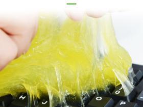 机械键盘清洁:清洁软泥慎用,掉进去就不好玩了